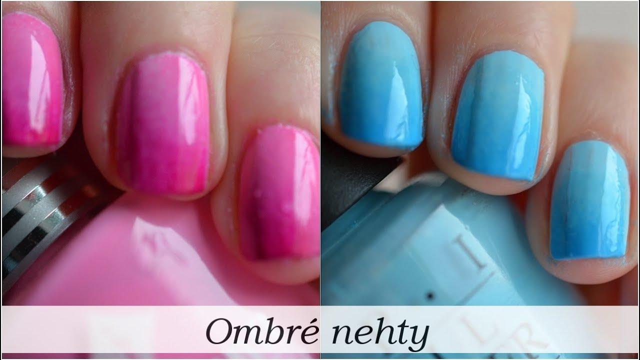Ombre Nehty 29 Video Pro Kamoska Cz Ombre Nails Youtube