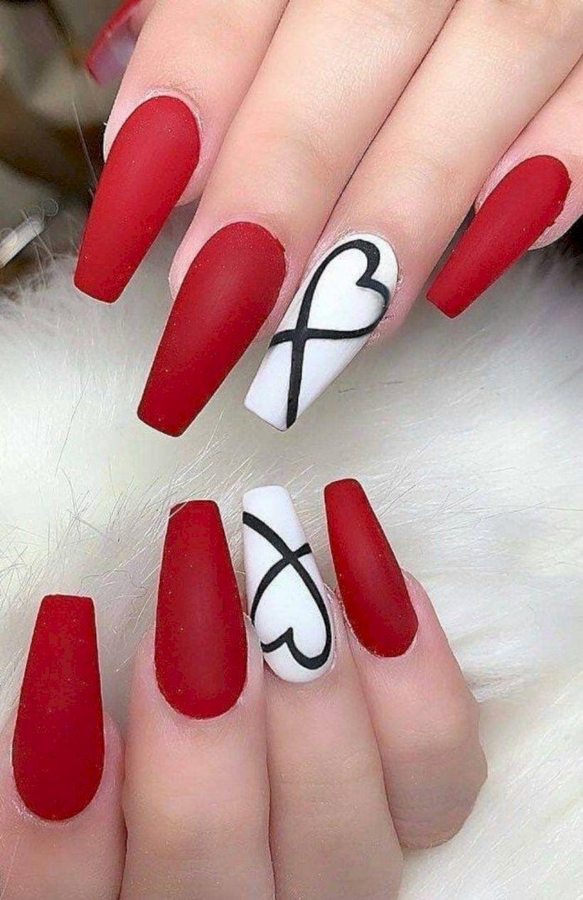 49 Cute Nail Art Ideas For Summer That You Must Try Cervene Nehty Gelove Nehty Design Nehtu