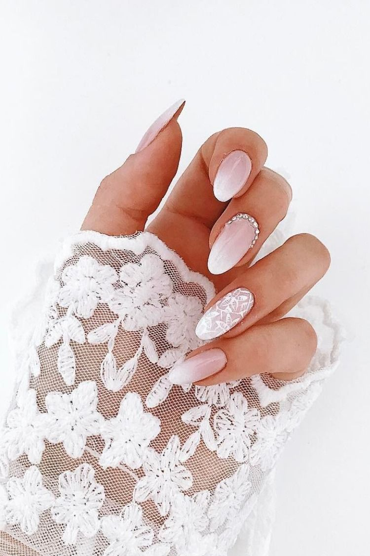 30 Fairy Like Wedding Nails For Your Big Day Gelove Nehty Nehet Nehty