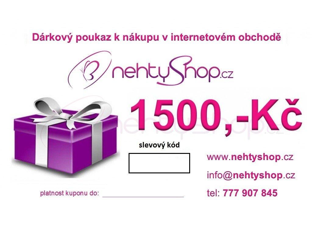 Darkovy Poukaz 1500 Kc Nehtyshop Cz