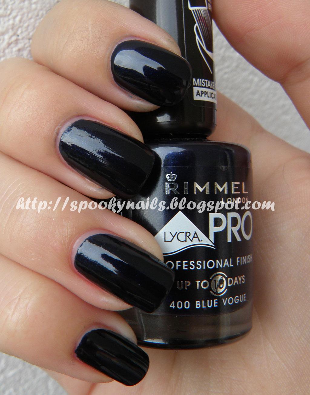 Rimmel Lycra Pro 400 Blue Vogue Spooky Nails