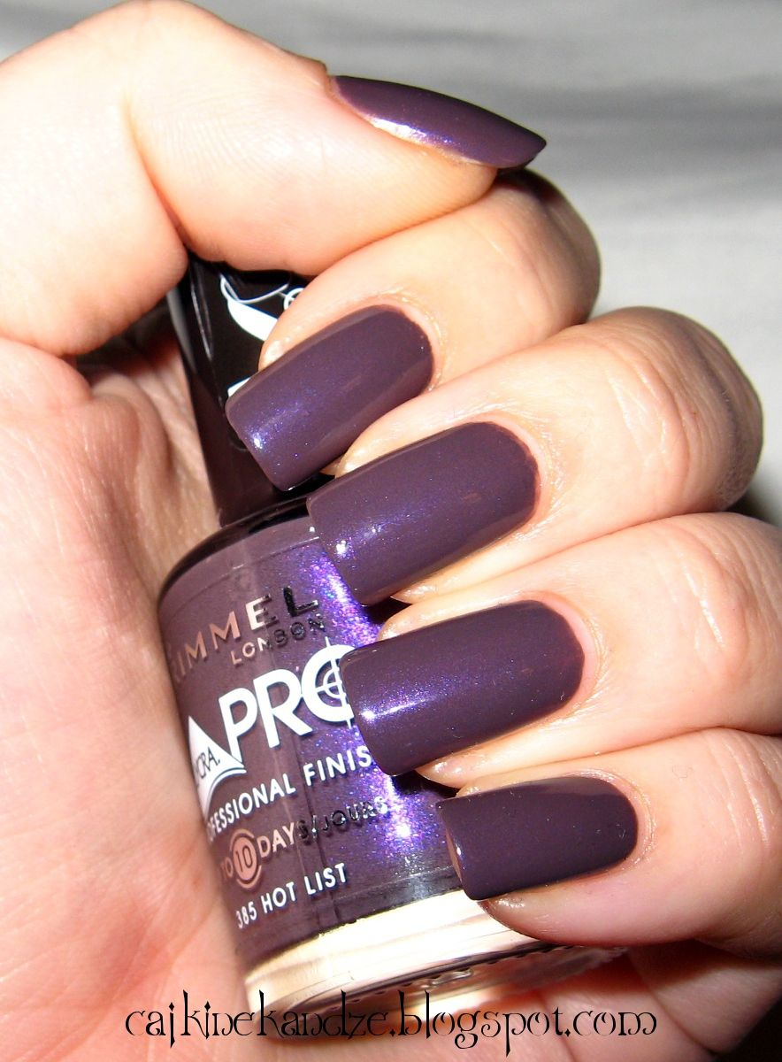 Slike I Recenzija Laka Za Nokte Rimmel Lycra Pro 385 Hot List Swatches And Review Of Nail Polish Rimmel Lycra Pro 385 H Rimmel Nail Polish Rimmel Nail Polish