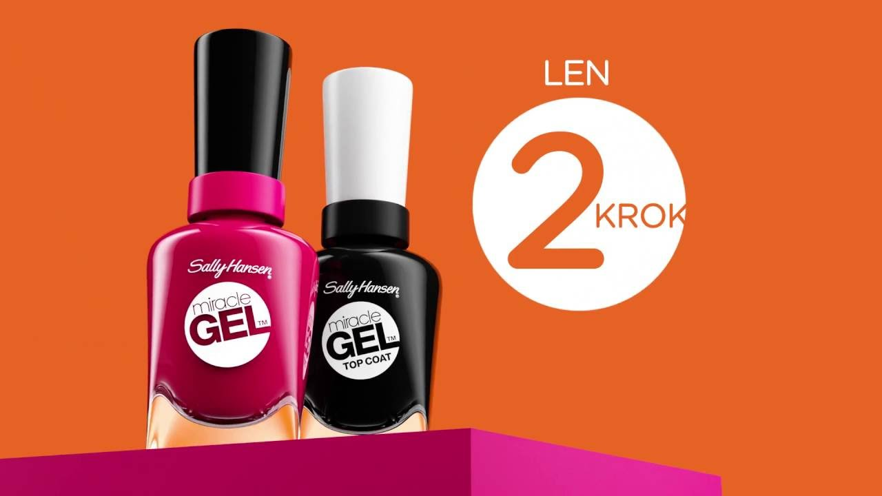 Lak Na Nechty Miracle Gel Sally Hansen Youtube
