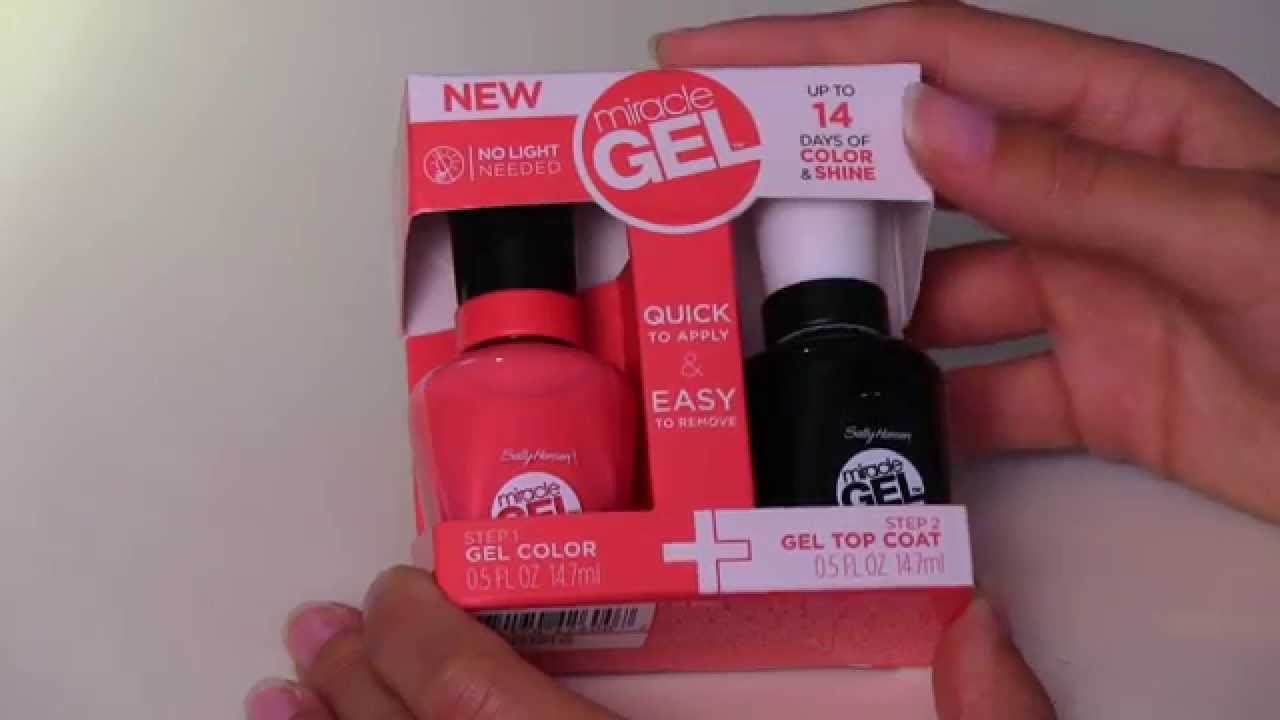 Test Na Zywo 14 Dni Z Miracle Gel Od Sally Hansen Youtube