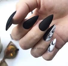 černé Mramorové Nehty