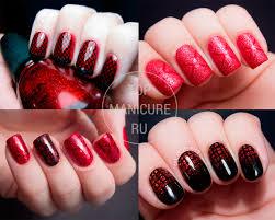 černo červené Nehty