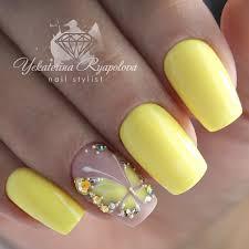 žluté Nehty Po Laku Na Nehty