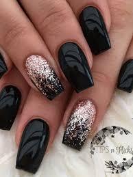 Akrylové Nehty černé