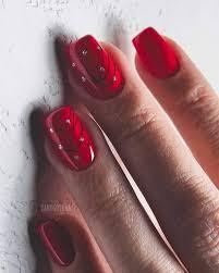 Gelové Nehty červené Krátké
