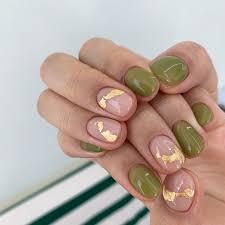 Gelové Nehty Světle Zelené