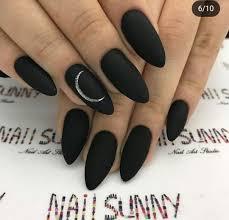 Matné Nehty černé