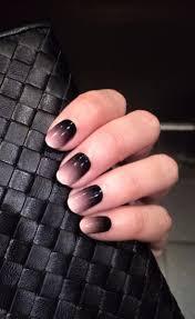 Nehty Ombré černé
