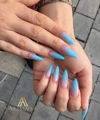 Nehty Ombre Modre